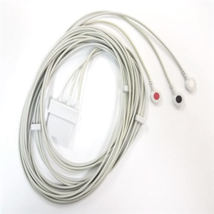 3-wire patient cable, AHA 3m, snap type