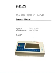User Manual for Schiller CARDIOVIT AT-3 ECG (Electronic Edition)