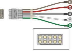 GROUP LEADWIRE SET(5 LD SNAP) COMPATIBLE TO THE GE MULTI-LINK®